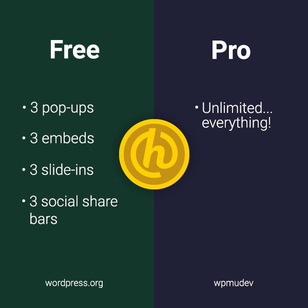 Hustle free and pro comparison graphic