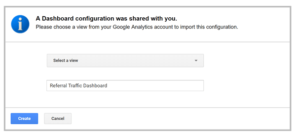 Screenshot of how to use Google Analytics Import Settings