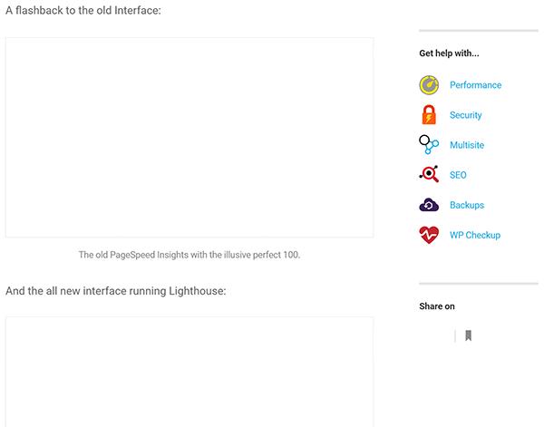 Screenshot of WPMU DEV blog images haven't finished loading