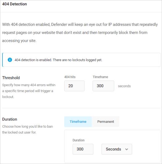 Defender Firewall - 404 Detection.