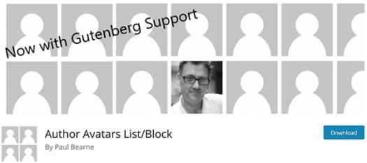 author avatars list/block.