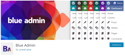 Screenshot of blue admin from wordpress.org