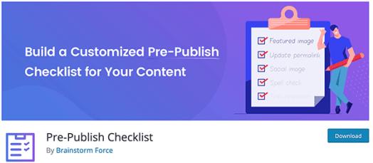 pre-publish checklist.