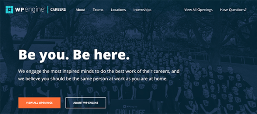 WP Engine homepage.