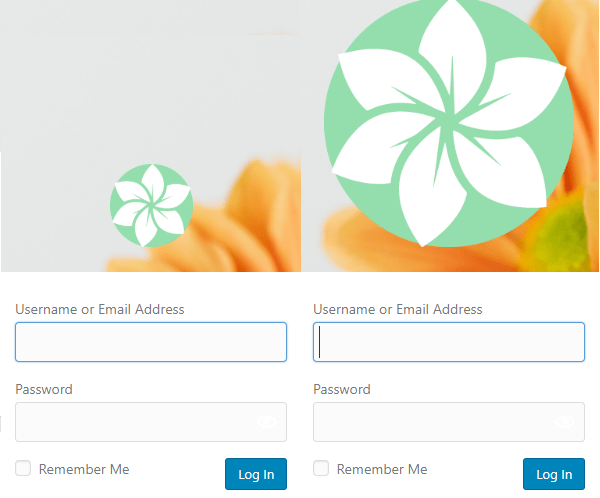 Screenshot of two different sizes of logos, on 85px the other 320px.