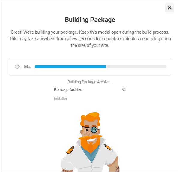 Shipper Building Package modal