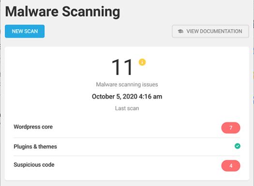 Malware scanning in Defender.