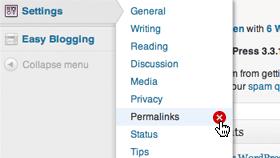 remove-permalinks-menu
