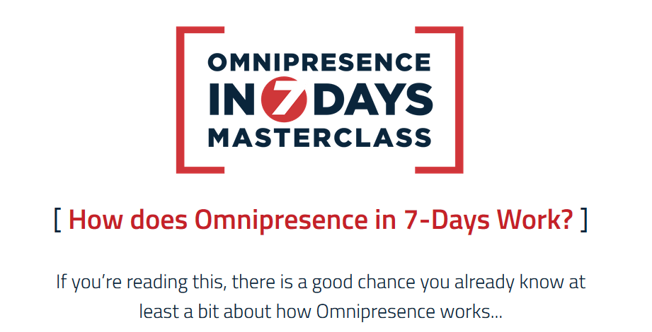 Omnipresence In 7 Days Masterclass free download