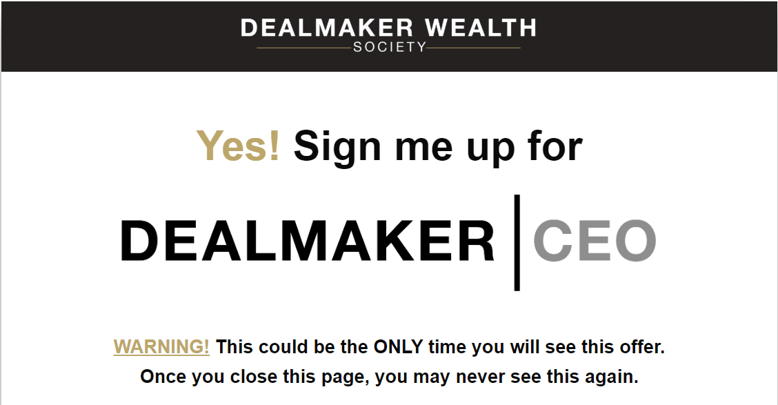 Carl Allen - Dealmaker Wealth Society
