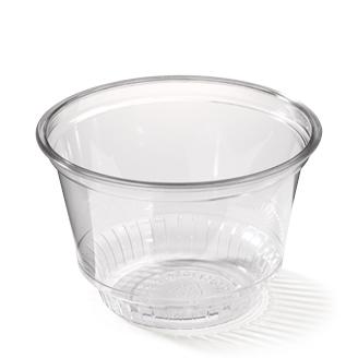 Plastic kom voor ijs & sorbets, clear bowl