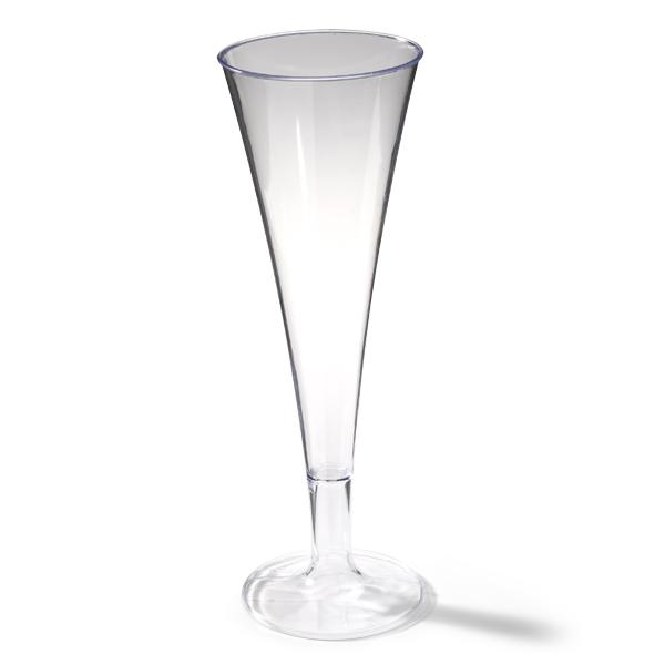 Champagneglas vervaardigd uit plastic