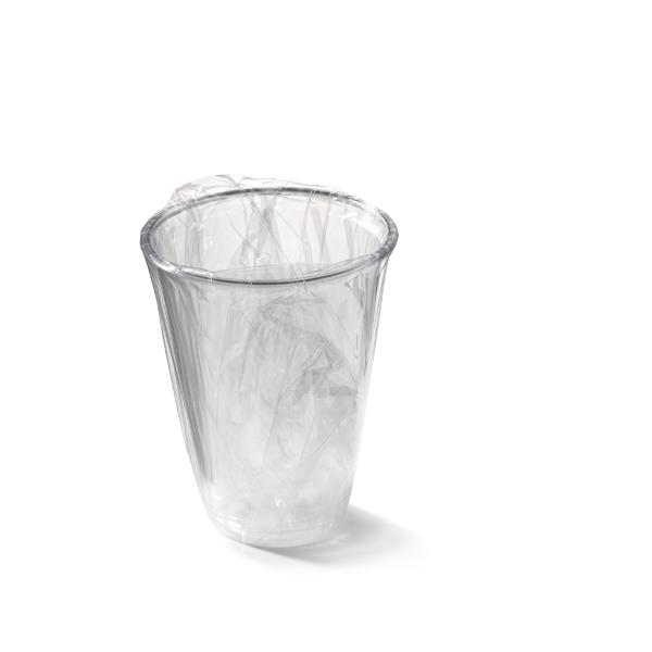 Glas van plastic per stuk verpakt, met een inhoud van 200cc
