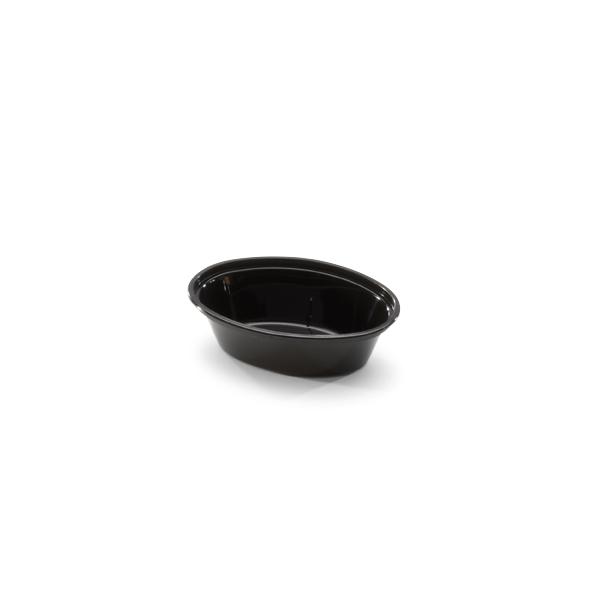 Ovale cup van plastic met een inhoud van 1oz.