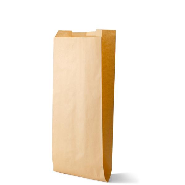 Snackzak vervaardig van een kraft materiaal met een inhoud van 3 pond