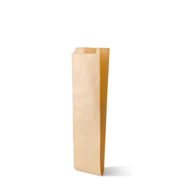 Snackzak vervaardig van een kraft materiaal met een inhoud van een fricandel