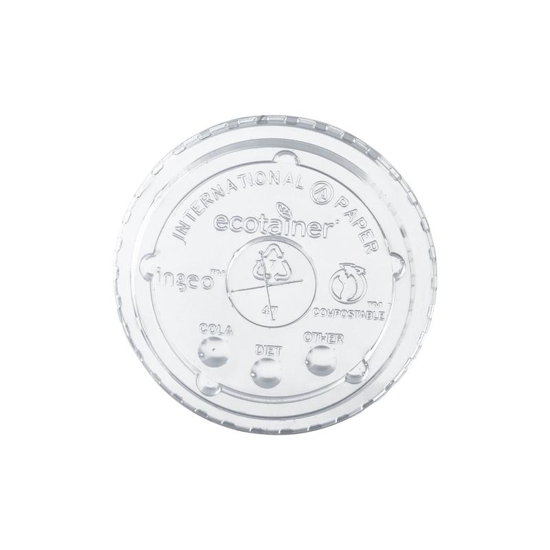 Transparante biologisch afbreekbare deksel voor milkshake bekers, bio deksel van pla materiaal