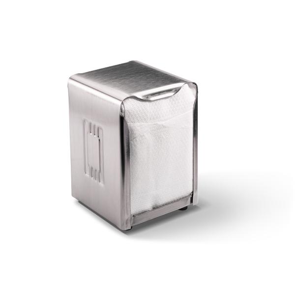 Dispenser voor compact vouw servetten, geschikt voor op tafel