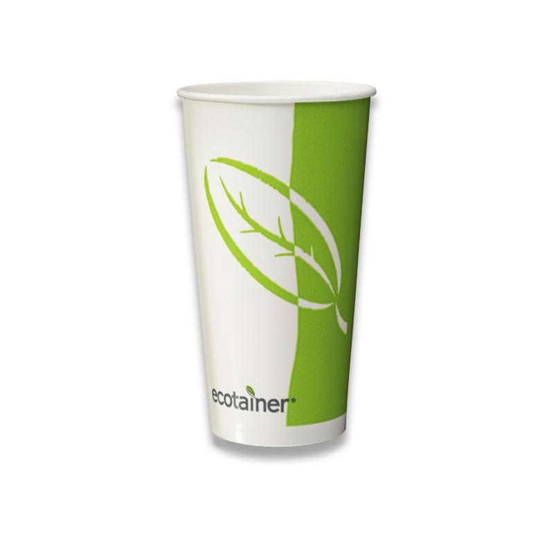 Bio milkshake bekers 0,5 liter aflsuitbaar met een 100% afbreekbare PLA deksel