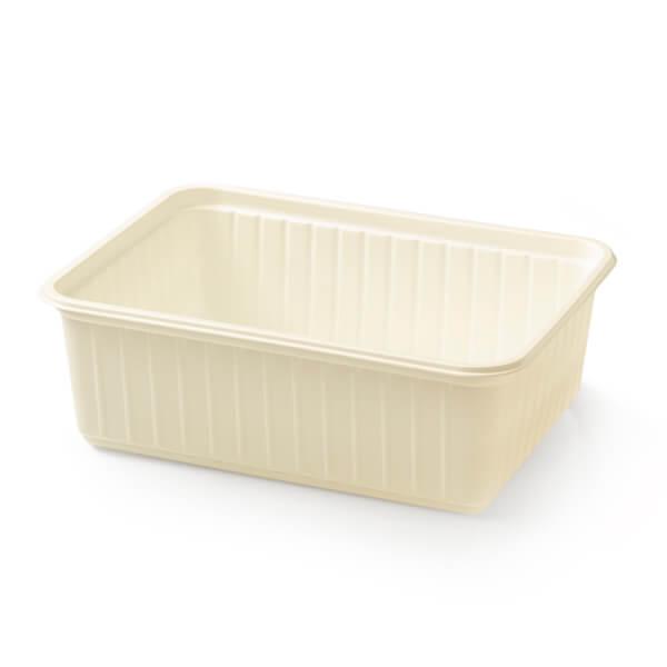Witte plastic bak met een inhoud van 1kg