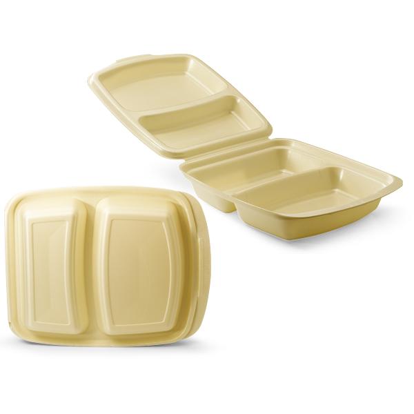 Dinnerbox foam met een 2 vaks verdeling
