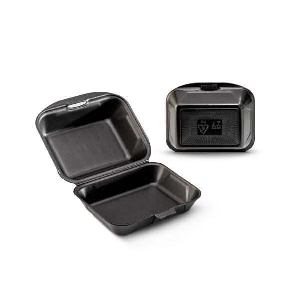 Lunch box foam zwart