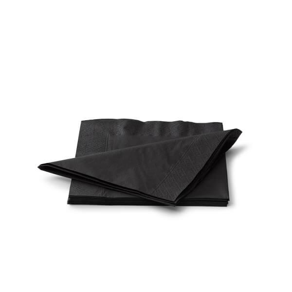 Servet 33x33cm 2 laags zwart