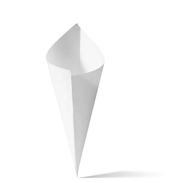 Witte papieren puntzakken k19