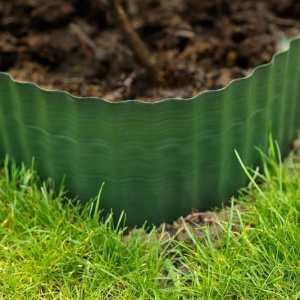 Zöld hullámos PE gyepszegély 4 méretben