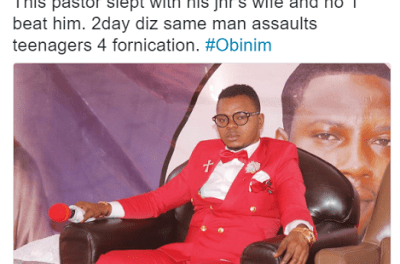 Pastor who flogged members for fornication was caught committing adultery