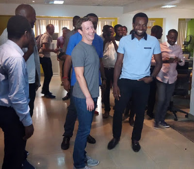 FACEBOOK FOUNDER MARK ZUCKERBERG IN NIGERIA