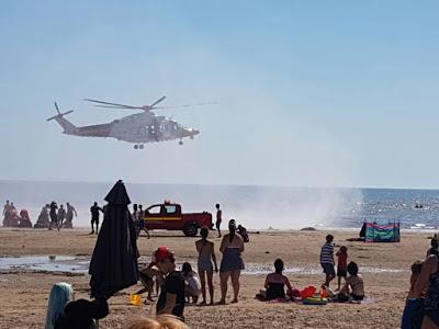 5 drown in sand beach