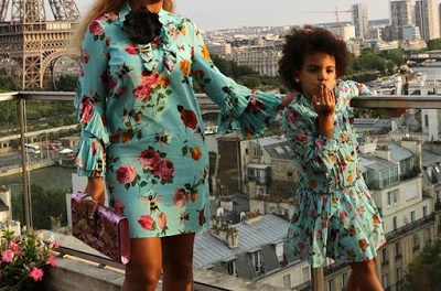 WOW!!! Beyonce and Daughter Bey Blue Really Matches (Photos)