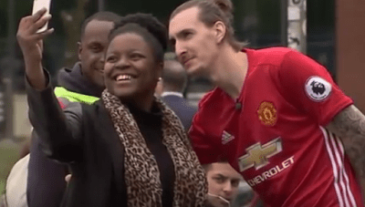 Fake Zlatan Ibrahimovic fooled Manchester United Fans Ahead of Derby