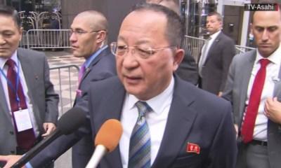 Ri Yong respond to trump's threat