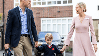 Prince George was in class at his brand new primary school when police say a woman in her 40s attempted to break into the building. The woman was arrested T
