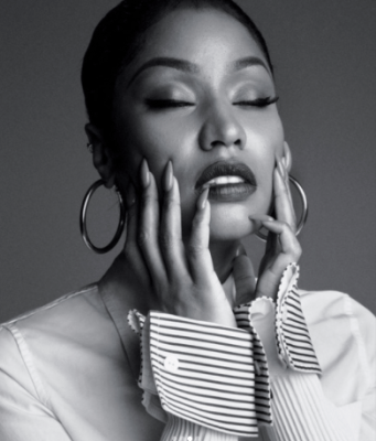 Nicki Minaj looks unrecognizable as she is featured on one of the covers of New York Times' October Greats issue