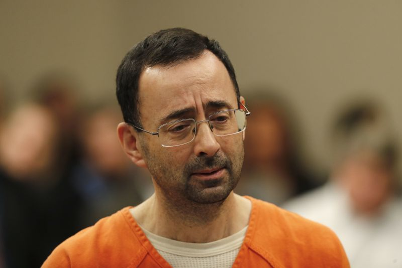 Former USA Gymnastics team doctor Larry Nassar sentenced to maximum 60 years in prison