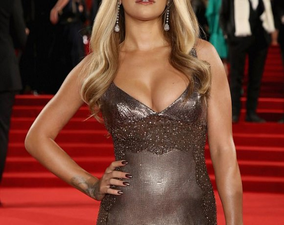 Rita Ora looks sexy in figure hugging metallic dress at the Fashion Awards 2017