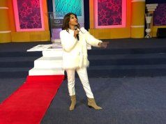 Video of Tonto Dikeh ministering at a church in South Africa