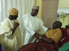 Dogara visits Senator Dino Melaye in National hospital Abuja