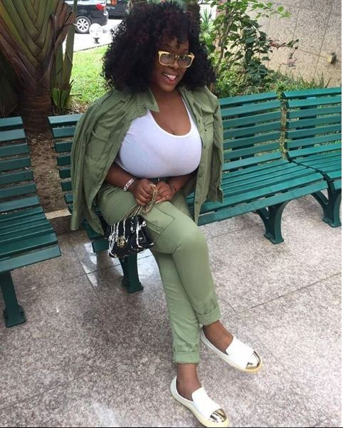 Ene Vivien Adaeze aka Eva Kiss, is a Nigerian Plus size-model who recently wrapped up her one-year NYSC programme. Her NYSC photos were shared online this morning, and the lady who's beautifully endowed is causing a stir online. See full photos below.