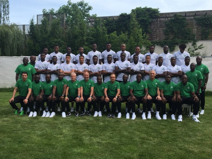 Nigeria releases official team photo ahead of 2018 World Cup in Russia.