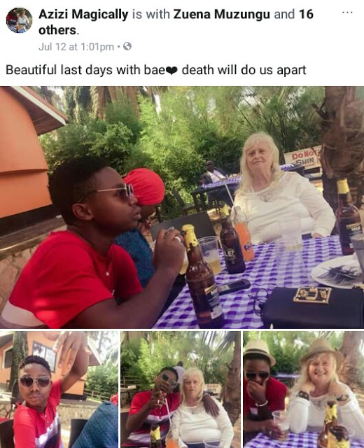 71-year-old Swedish ex-wife of Ugandan singer Guvnor Ace gets engaged to her 19-year-old lover