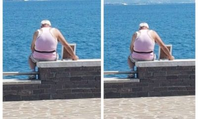 Grieving man takes picture of his late wife to the ocean every morning