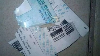 Angry man says as he destroys his PVC after Ekiti Elections