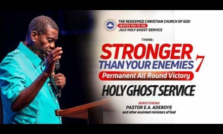 RCCG July 2018 Holy Ghost Service Live Streaming with Pastor E.A. Adeboye