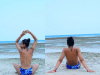 TBoss poses topless at Zanzibar beach (Photos),
