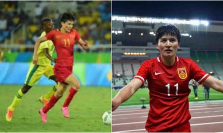 Chinese striker scores 9 goals in 29 minutes at the Asian Games