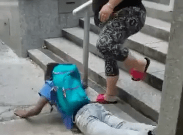 High school student displays on first day at school after overdosing on drugs (video)